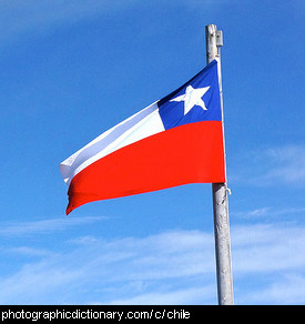 Photo of the Chilean flag