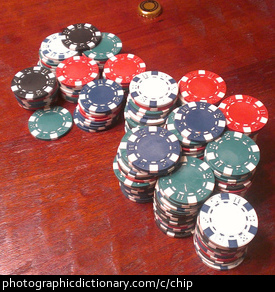 Photo of poker chips