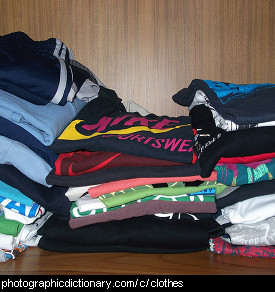 Photo of stacks of clothes