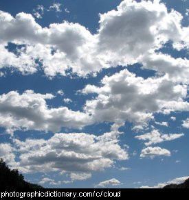 Photo of a cloudy sky