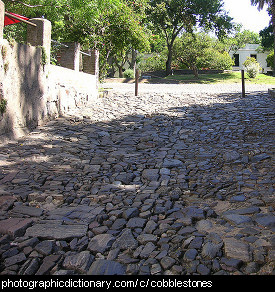 Photo of a cobbled street