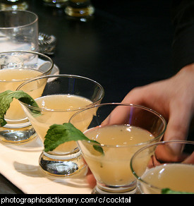 Photo of some cocktails.