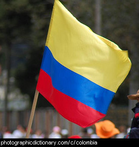 Photo of the Colombian flag