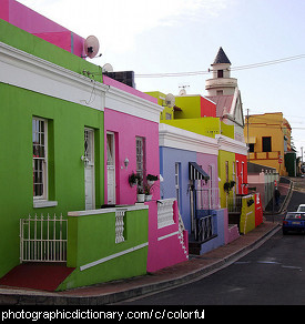 Photo of colorful houses