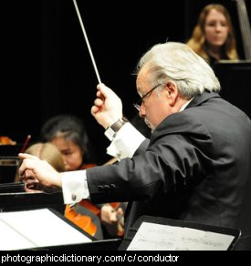 Photo of a conductor