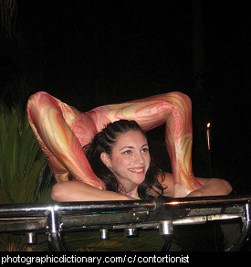 Photo of a contortionist