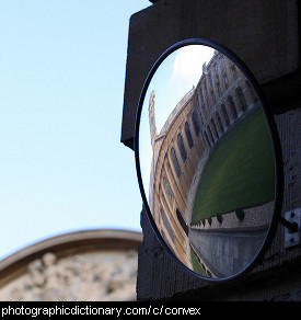 Photo of a convex mirror