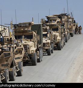 Photo of a convoy