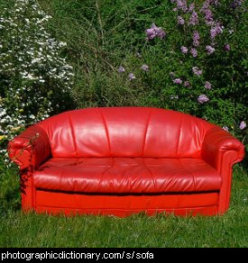 Photo of a sofa