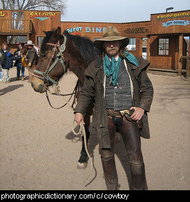Photo of a cowboy