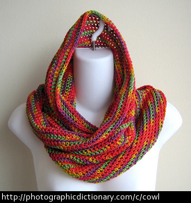 A colorful cowl.