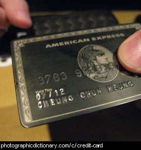 Photo of a credit card.