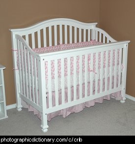 Photo of a baby's crib