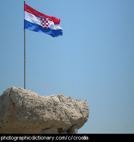 Photo of a Croatian flag