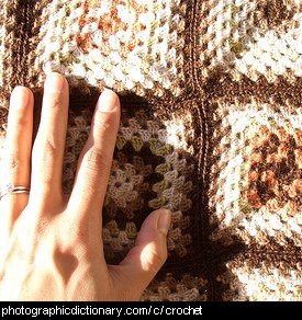 Photo of a crocheted rug