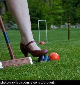 Photo of croquet