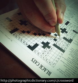 Photo of a crossword