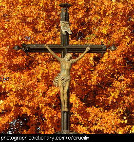 Photo of a crucifix