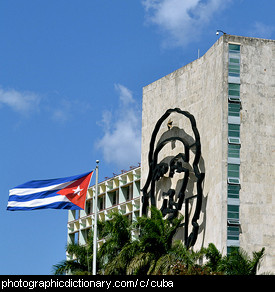 Photo of a Cuban flag