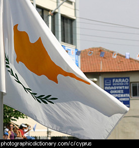 Photo of the Cyprus flag