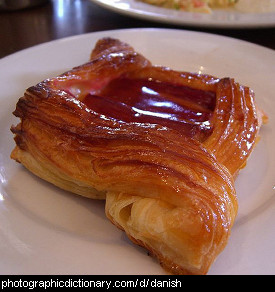 Photo of a danish pastry