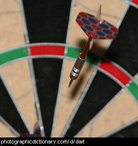 Photo of a dart