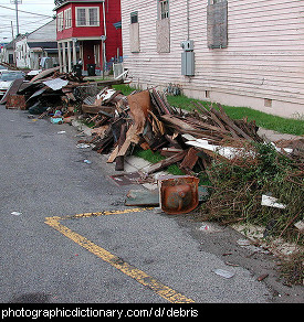 Photo of debris