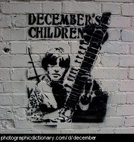 Photo of graffiti that says December