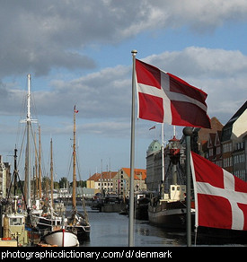 Photo of Danish flags