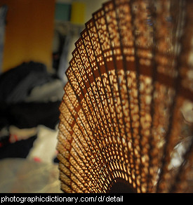 Photo of a detailed fan