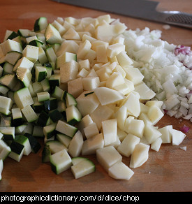 Photo of diced vegetables