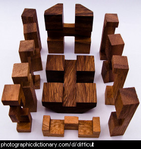 Photo of a difficult puzzle