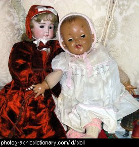 Photo of some old dolls