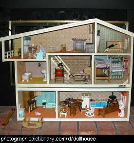 Photo of a doll house
