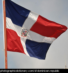 Photo of the Dominican Republic's flag