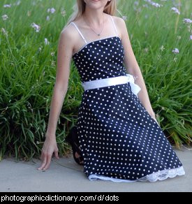 Photo of a girl in a dotty dress