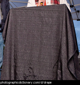 Photo of a draped cloth