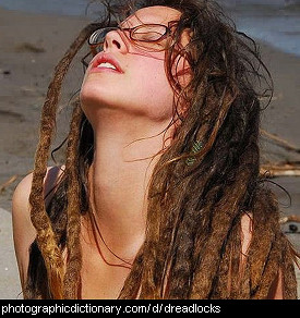 Photo of a girl with dreadlocks