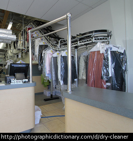 A dry cleaning business.