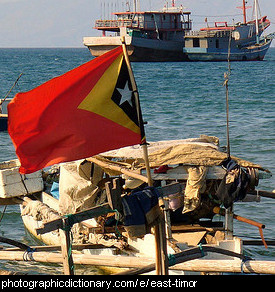 Photo of the East Timor flag
