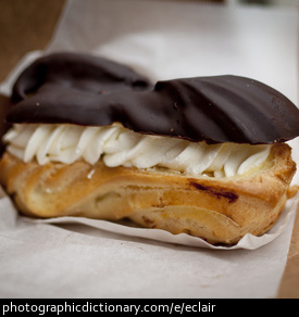 Photo of an eclair