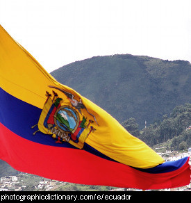 Photo of the Ecuador flag