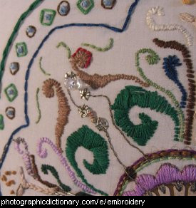 Closeup of some embroidery