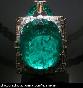 Photo of an emerald pendant