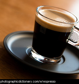 Photo of an espresso coffee