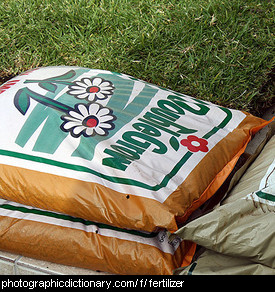 Photo of bags of fertilizer