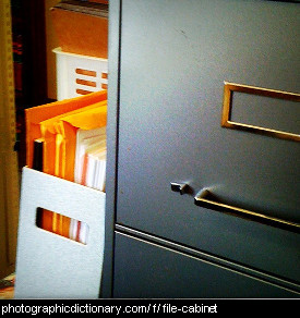 Photo of a file cabinet.