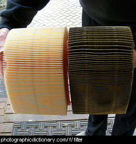 Photo of a clean and dirty filter