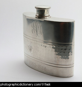Photo of a metal flask