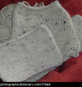 Photo of flecked knitting